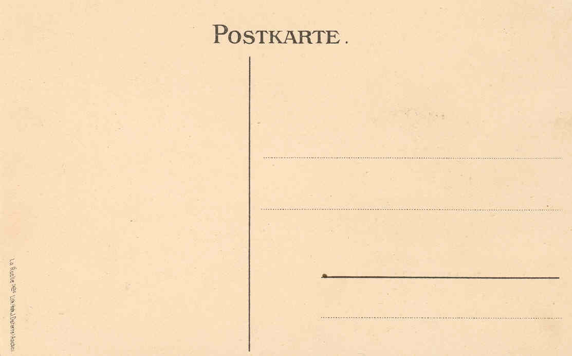 "Postkarte ""Barthel"" Rückseite"