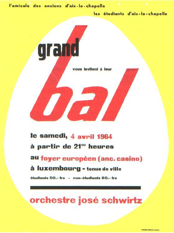 Plakat für den Bal an Ostern 1964