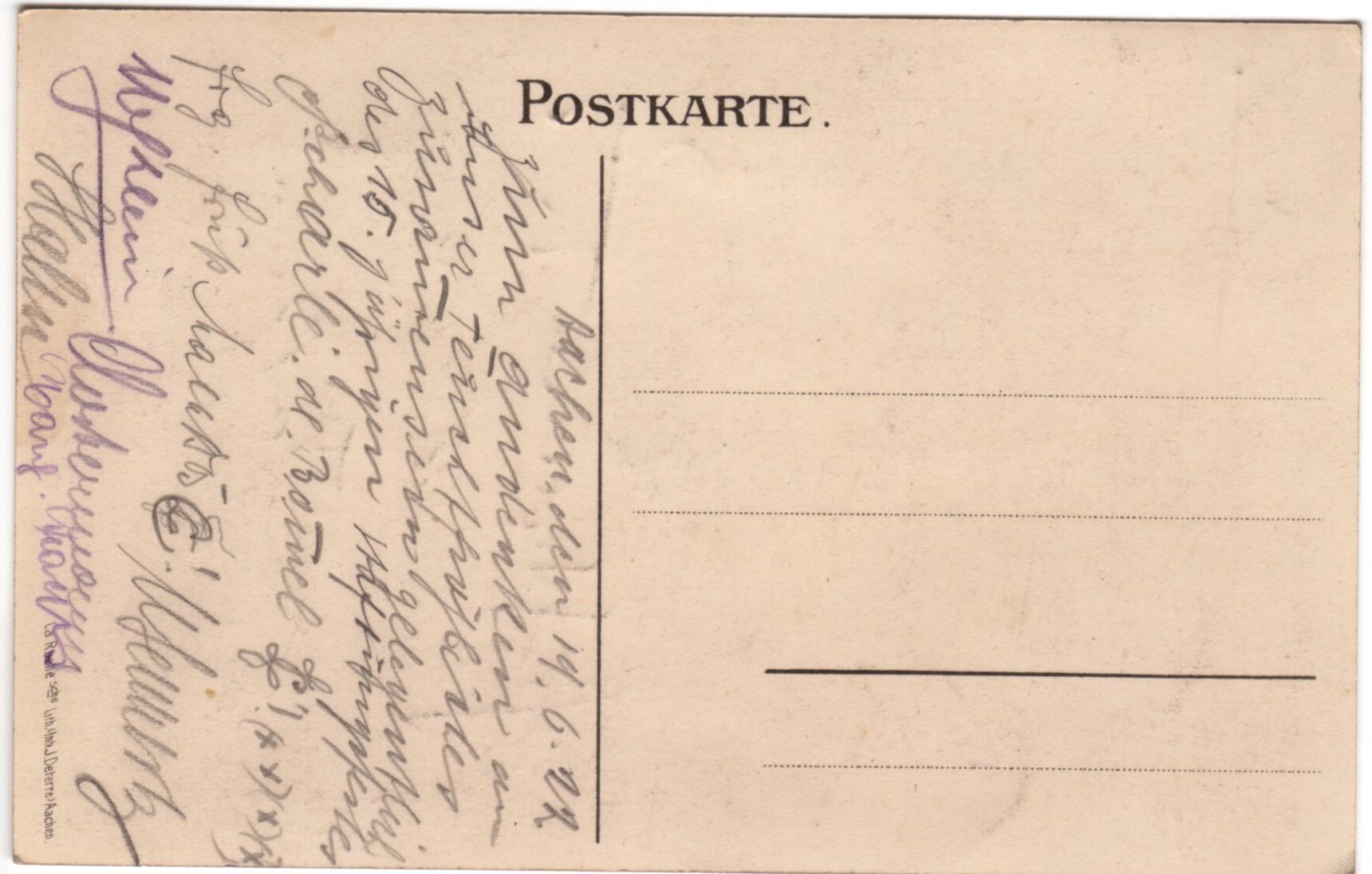 Rückseite Klopp 1922