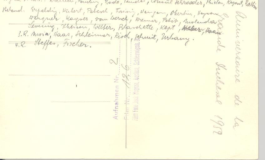 Rückseite des Fotos von Empfang beim Konsul 1952