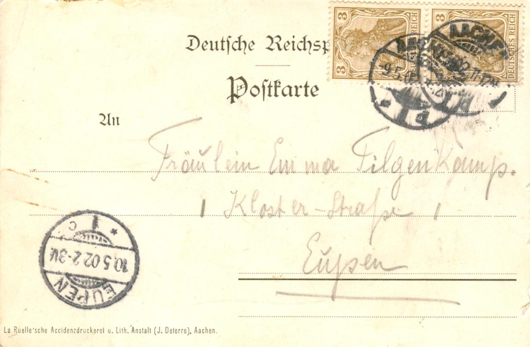 an Emma Tilgenkamp 20.5.1902