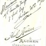 ALaurent al. Wack L! xx s/l Camille Keiffer al. Comper z. frdl. Erg. Aachen W.S. 02/03