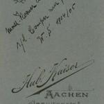 Math. Koener al/Zech s./l. Comper zur fredl. Erg. W.S. 1904/05