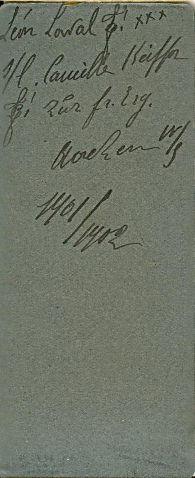 Rückseite, Porträt Léon Laval