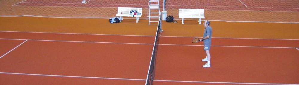 Beim Tennis 2004