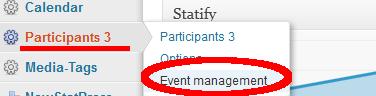 Participants 3 Eventmanagment