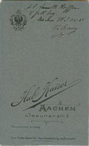 Handschriftlich s/l Camille Keiffer z. fr. Erg Aachen WS 04-05 Fr Bourg
