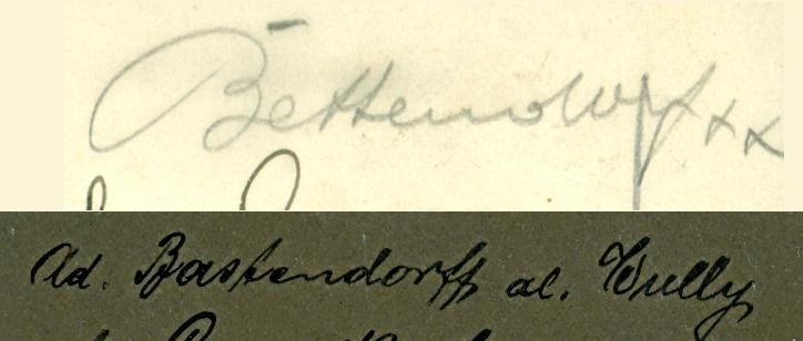 Zwei Unterschriften zum Vergleich 1907 und 1912 (Bastendorff, gesichert)