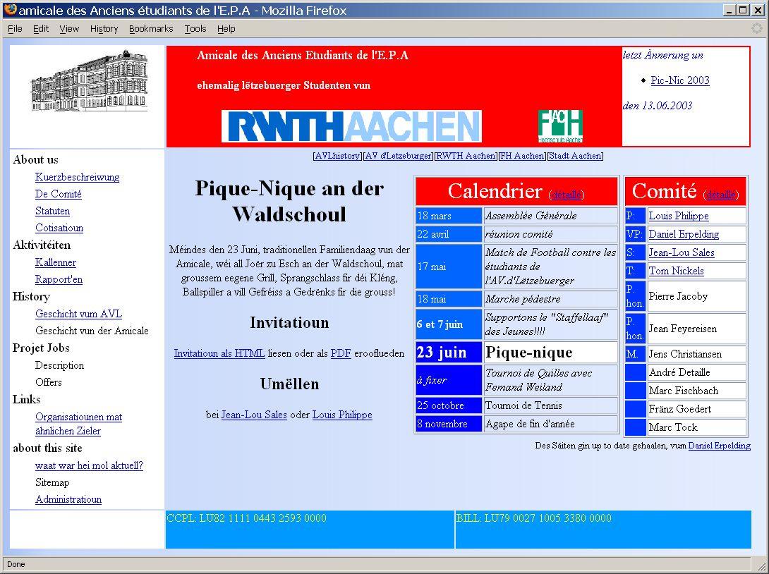 Startsäit vum http://www.avl.lu/amicale