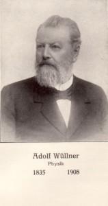 Porträt von Adolf Wüllner. Vollbart, nach hinten gekämmte Haare, blickt nach rechts