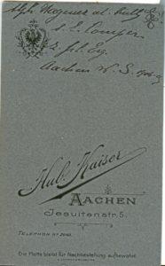 Alph. Wagener al Rully L! s.l. Comper z. frd. Erg. Aachen W.S. 1904-05