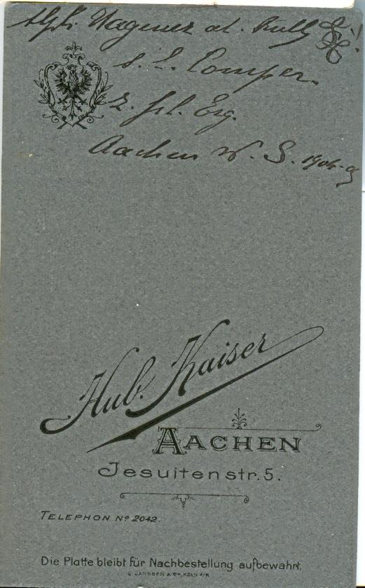 Rückseite Alphonse Wagener – Bild 0073