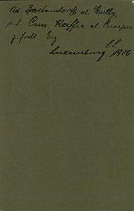Ad. Bastendorff al. Wully s.l. Cam. Keiffer al. Comper z. frdl. Erg. Luxemburg SS 1912